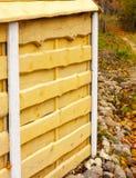 Trä texturerar Horisontalbräden Staket som göras av naturligt trä Fotografering för Bildbyråer