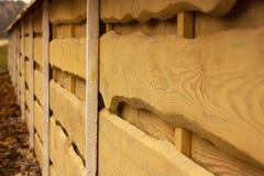 Trä texturerar Horisontalbräden Staket som göras av naturligt trä Royaltyfri Fotografi
