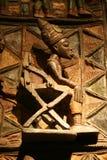 träafrikansk skulptur Royaltyfria Foton