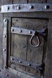 träantik dörr Royaltyfri Foto