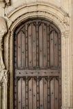 träantik dörr Royaltyfri Fotografi