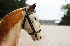 Träantikt hästhuvud, Avignon royaltyfri foto