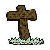 träarg grav för komisk tecknad film Arkivfoto