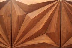 Träaskdesign med trianglar royaltyfri foto