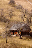 träbackhus Arkivfoto