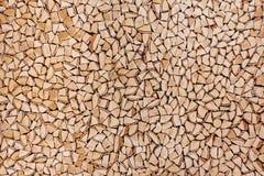 Träbakgrund av splittrade trädstammar Royaltyfri Fotografi