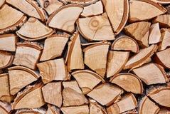 Träbakgrund av splittrade trädstammar Fotografering för Bildbyråer
