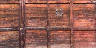Träbakgrund, dörr Royaltyfri Fotografi