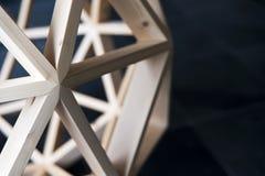 Träbakgrund för geometrisk struktur Arkivbilder