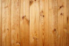 Träbakgrund, ljusa väggträbräden Arkivbild