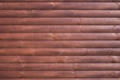 Träbakgrund med horisontalbräden Royaltyfri Bild
