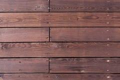 Träbakgrund med horisontalbräden Fotografering för Bildbyråer