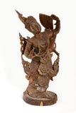 träbali figurine royaltyfria foton