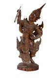 träbali figurine arkivfoto