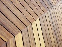 Träbelagd med tegel modell texturerad golvbakgrund Royaltyfria Foton
