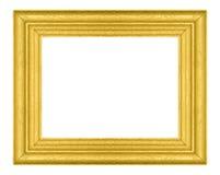 Träbildram som isoleras på vit Royaltyfri Fotografi