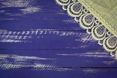 Träblå bakgrund för abstrakt tappning Royaltyfri Bild