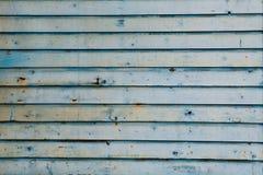 träblå gammal vägg royaltyfria bilder