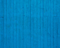 träblå vägg för bakgrund Royaltyfri Bild