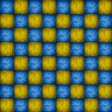 Träblått- och gulingschackbräde Royaltyfri Bild