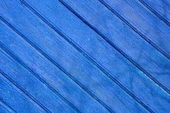 träblått staket Arkivfoto