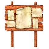 träblanka affischer för affischtavla royaltyfri illustrationer