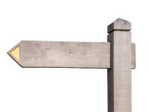 träblankt tecken Fotografering för Bildbyråer