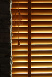 träblint fönster Royaltyfria Bilder