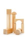 träblockbyggande Arkivbild