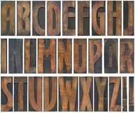 Träbokstavsutklipp Arkivbilder