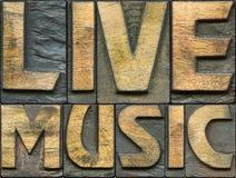 Träboktryck för levande musik royaltyfria foton