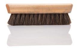 Träborste II för skoskenpolermedel Arkivfoton