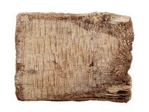 Träbräde som isoleras på en vit bakgrund Arkivfoton