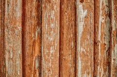 Träbräden med sprucken målarfärg Royaltyfri Bild