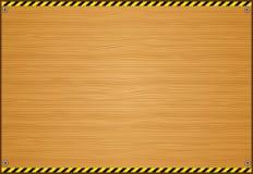 träbrädevarningsband Arkivfoto