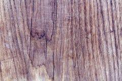 Träbrädeyttersida med skrapor Royaltyfria Bilder