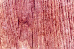 Träbrädeyttersida med skrapor Royaltyfri Fotografi