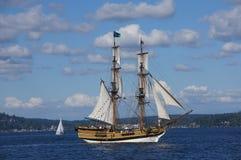 Träbrigen, Lady Washington Royaltyfri Fotografi