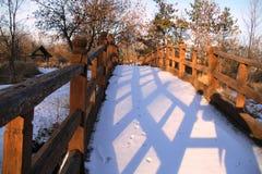 Träbro Fotografering för Bildbyråer