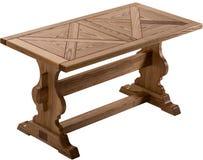 Träbrun antik tabell som isoleras på vit bakgrund Royaltyfria Foton