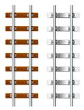 träcementjärnvägsleeper royaltyfri illustrationer