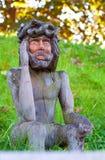 trächrist jesus gammal skulptur Royaltyfri Foto