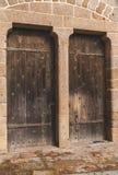 Trädörrar av Mont Saint-Michel Royaltyfria Foton
