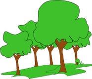 Träd vektor illustrationer