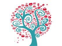 Träd av förälskelse Fotografering för Bildbyråer