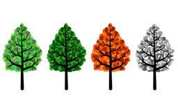 Träd av fyra säsonger Vektor Illustrationer