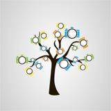 Träd av kameror royaltyfria bilder