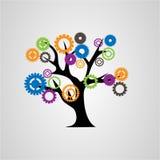 Träd av kugghjul royaltyfri illustrationer