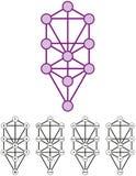 Träd av liv med tio Sephirots royaltyfri illustrationer