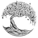 Träd av liv på en vit bakgrund royaltyfri illustrationer
